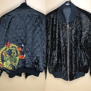 Vintage dual sided Horse and stars Bomber Jacket
